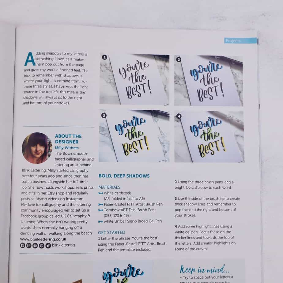 New Way To Learn Lettering: Simply Lettering Magazine, Lettering Project | Masha Plans