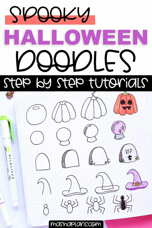 21+ Halloween Bullet Journal Doodles | Masha Plans
