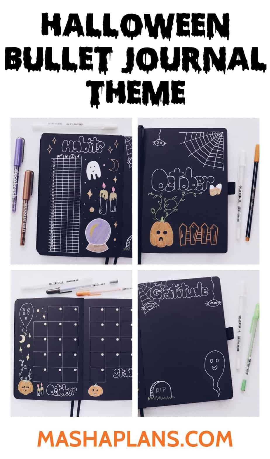 Halloween Bullet Journal Setup | October Plan WIth Me | Masha Plans