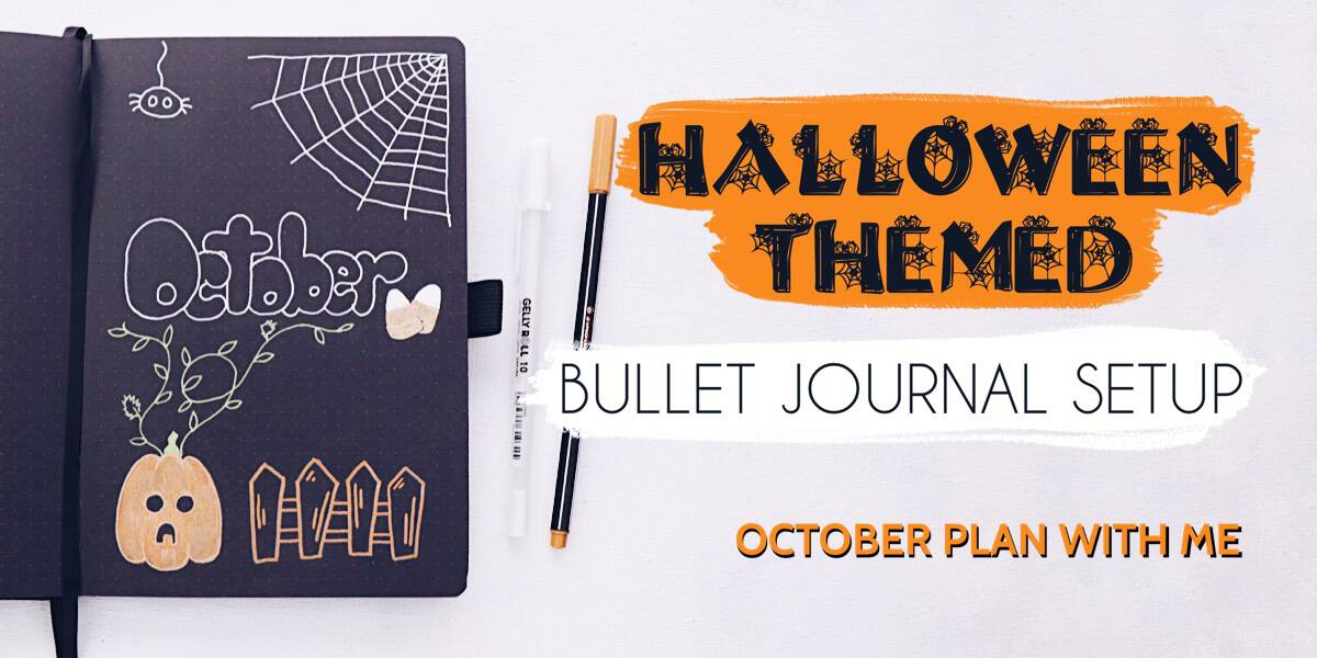 Halloween Bullet Journal Setup | October Plan WIth Me | Masha Plans