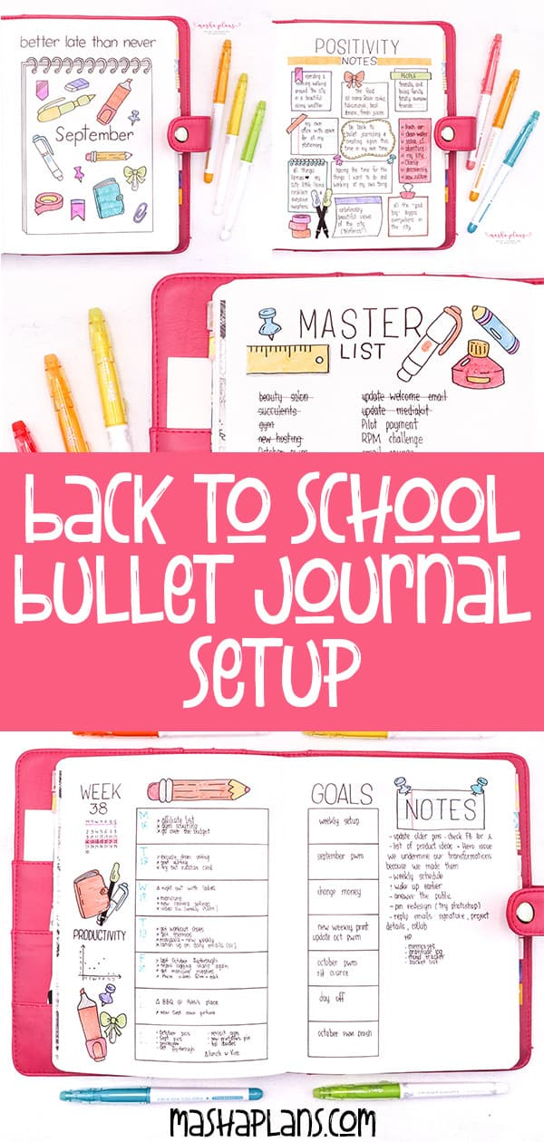 Back To School Bullet Journal Theme | Masha Plans