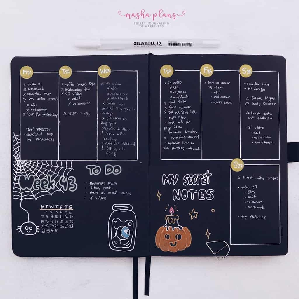 Halloween Bullet Journal Setup | October Plan With Me - weekly spread | Masha Plans
