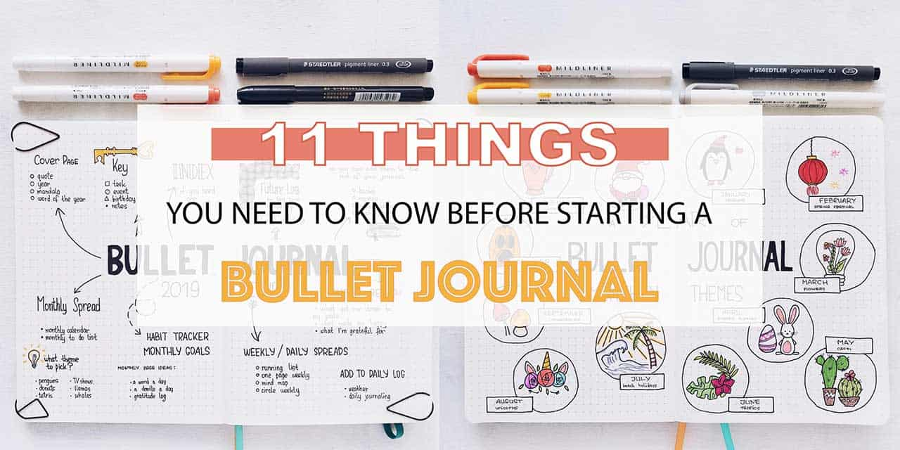 11 Things You Need To Know Before Starting A Bullet Journal | Masha Plans