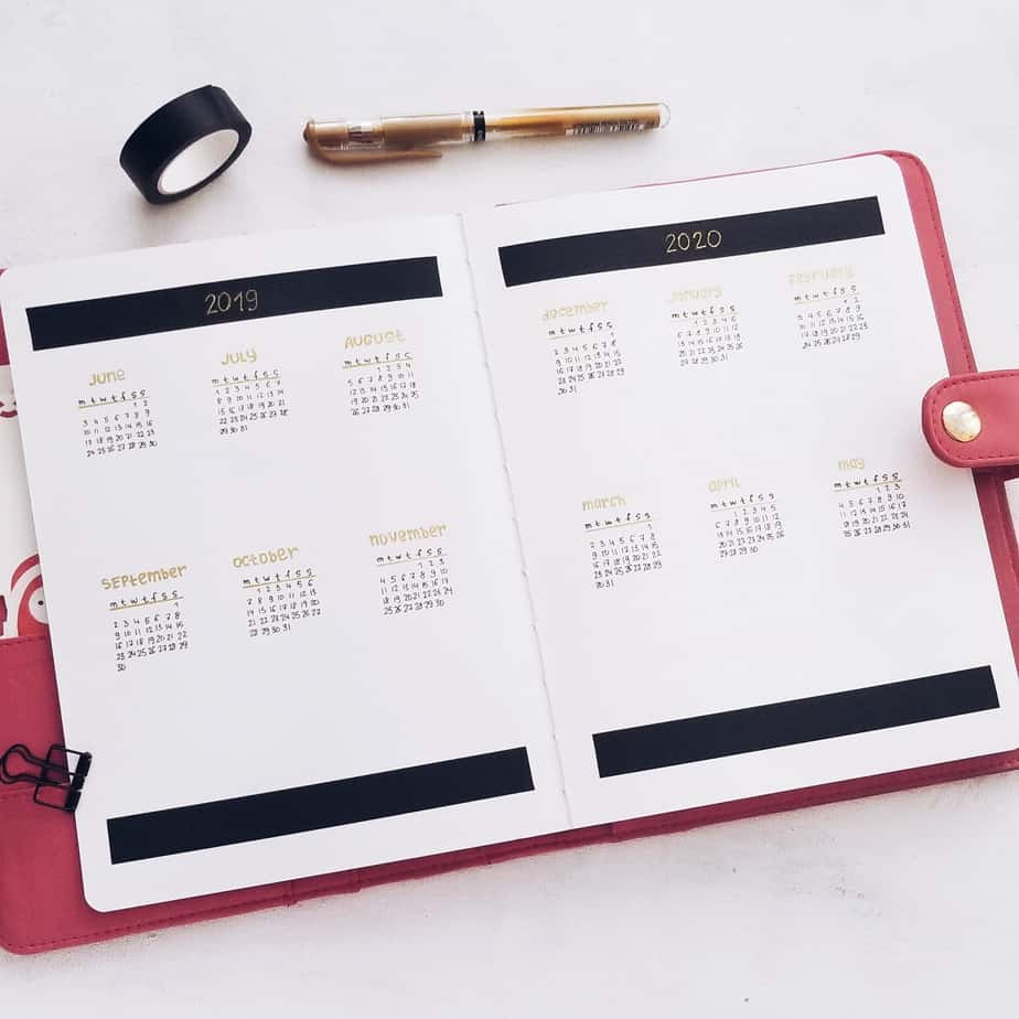 How To Start A Bullet Journal In The Middle of The Years: 2019-2020 Plan With Me, Future Log | Masha Plans