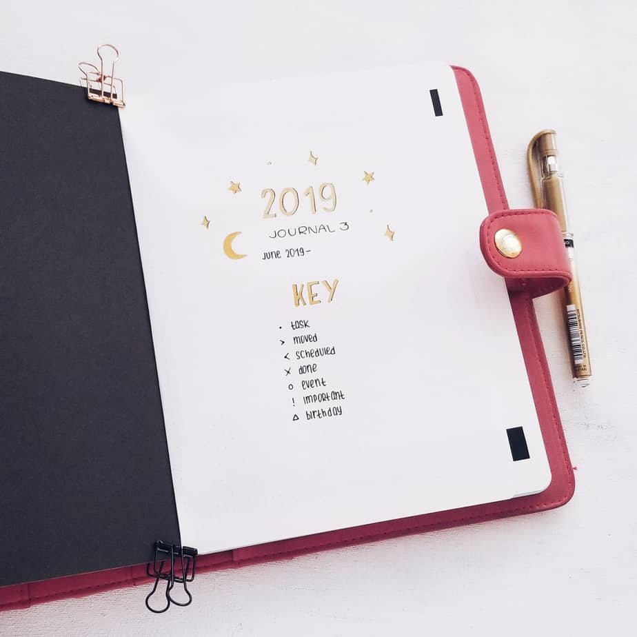 How To Start A Bullet Journal In The Middle of The Years: 2019-2020 Plan With Me, Cover Page | Masha Plans