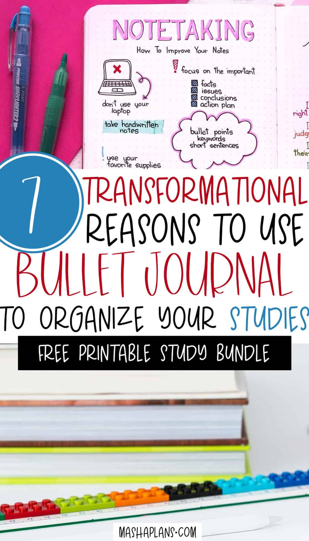 Why Use Study Bullet Journal To Manage Your School Life | Masha Plans