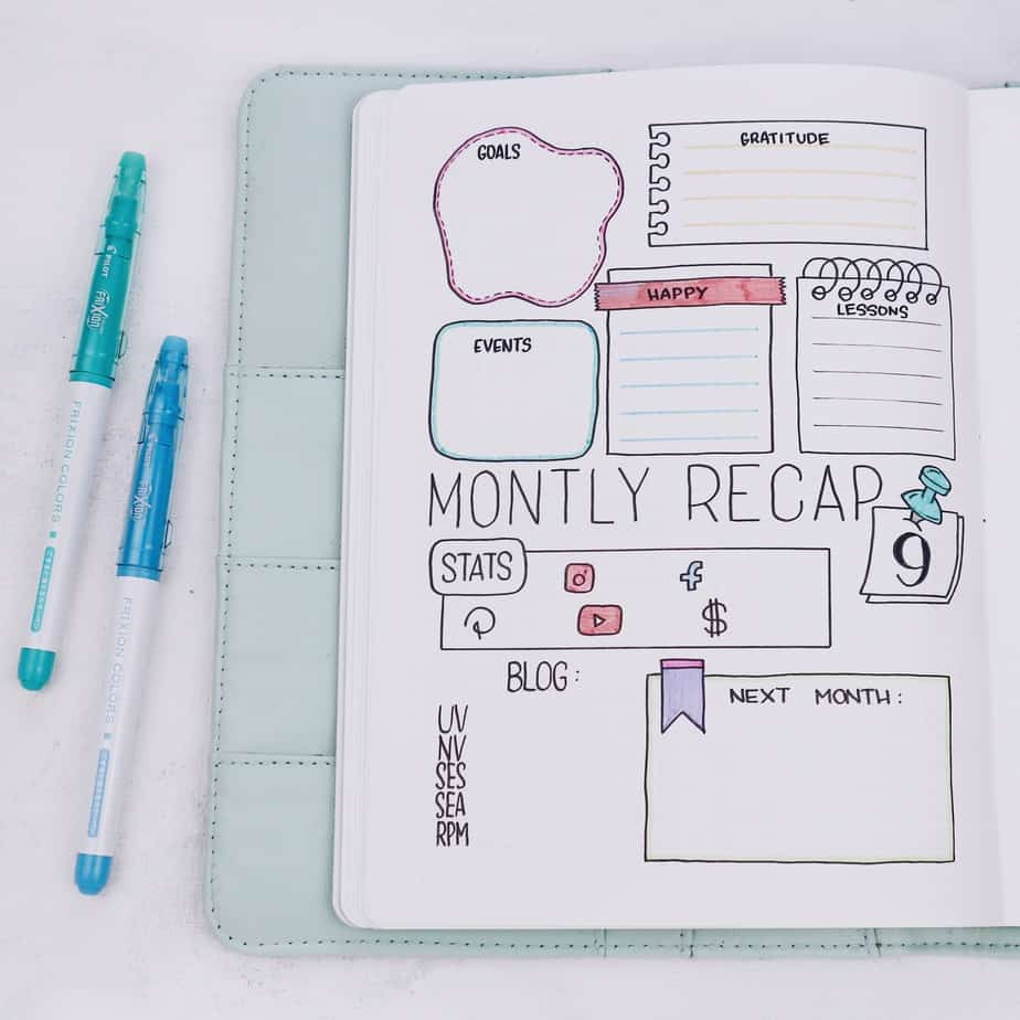 Why You Need A Monthly Review Page In Your Bullet Journal | Masha Plans