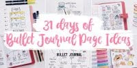 31 Days of Bullet Journal Page Ideas | Masha Plans