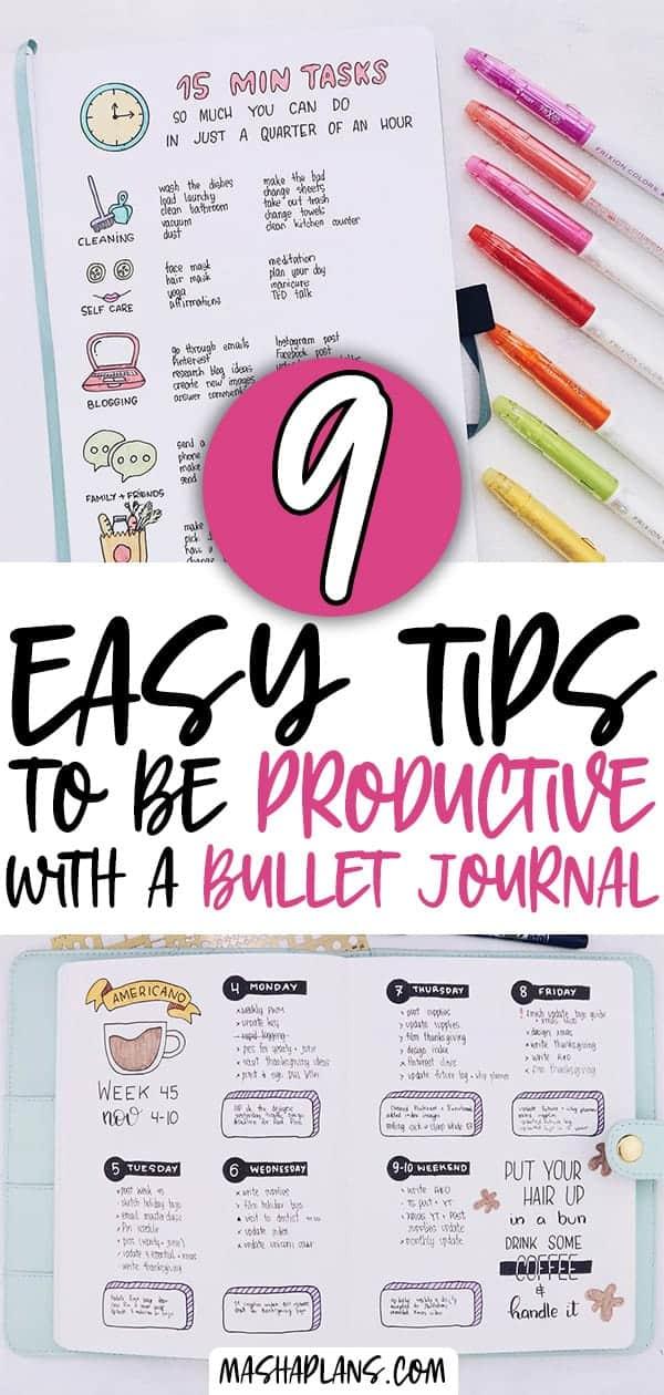 Productivity Bullet Journal | Masha Plans