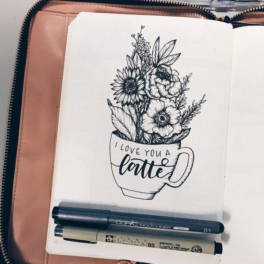27 Coffee Bullet Journal Theme Inspirations & My November Plan With Me, Spread by @allorasbujo | Masha Plans
