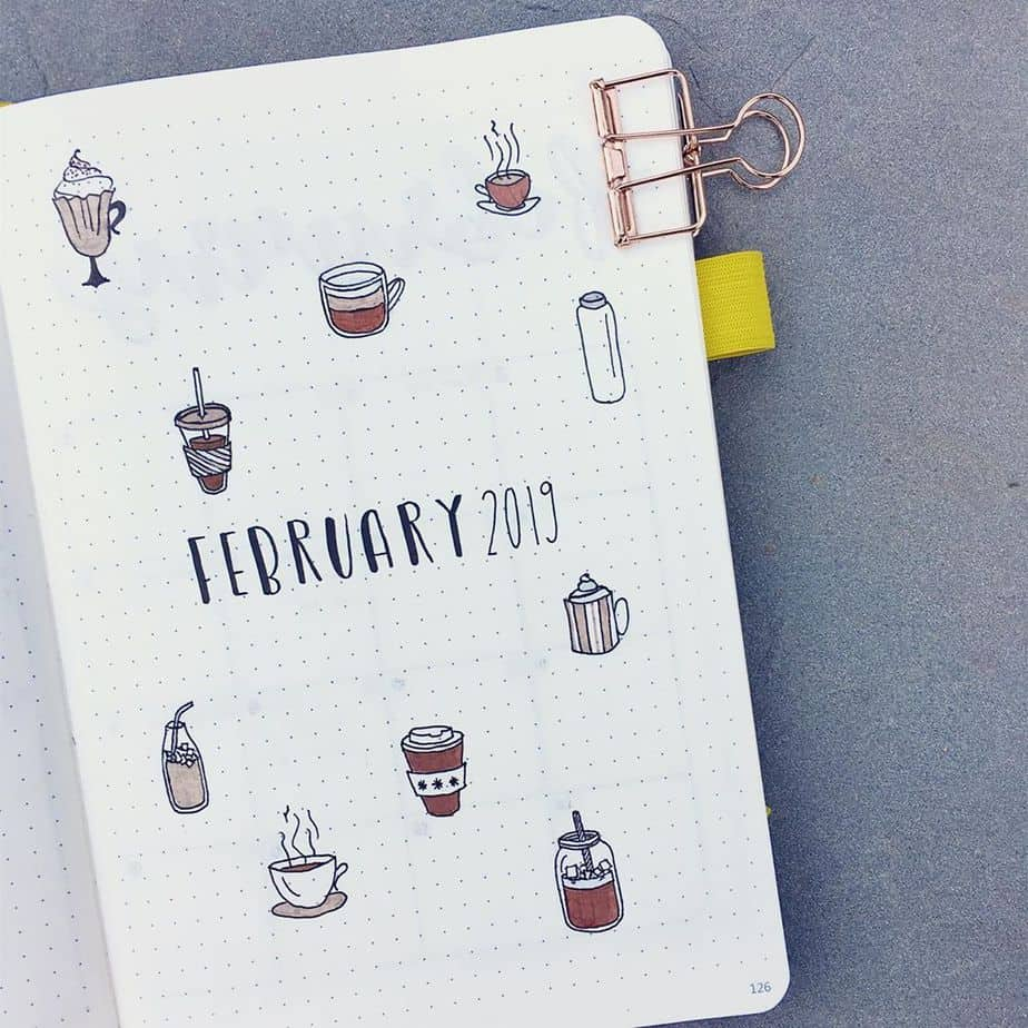 27 Coffee Bullet Journal Theme Inspirations & My November Plan With Me, Spread by @font.snob | Masha Plans