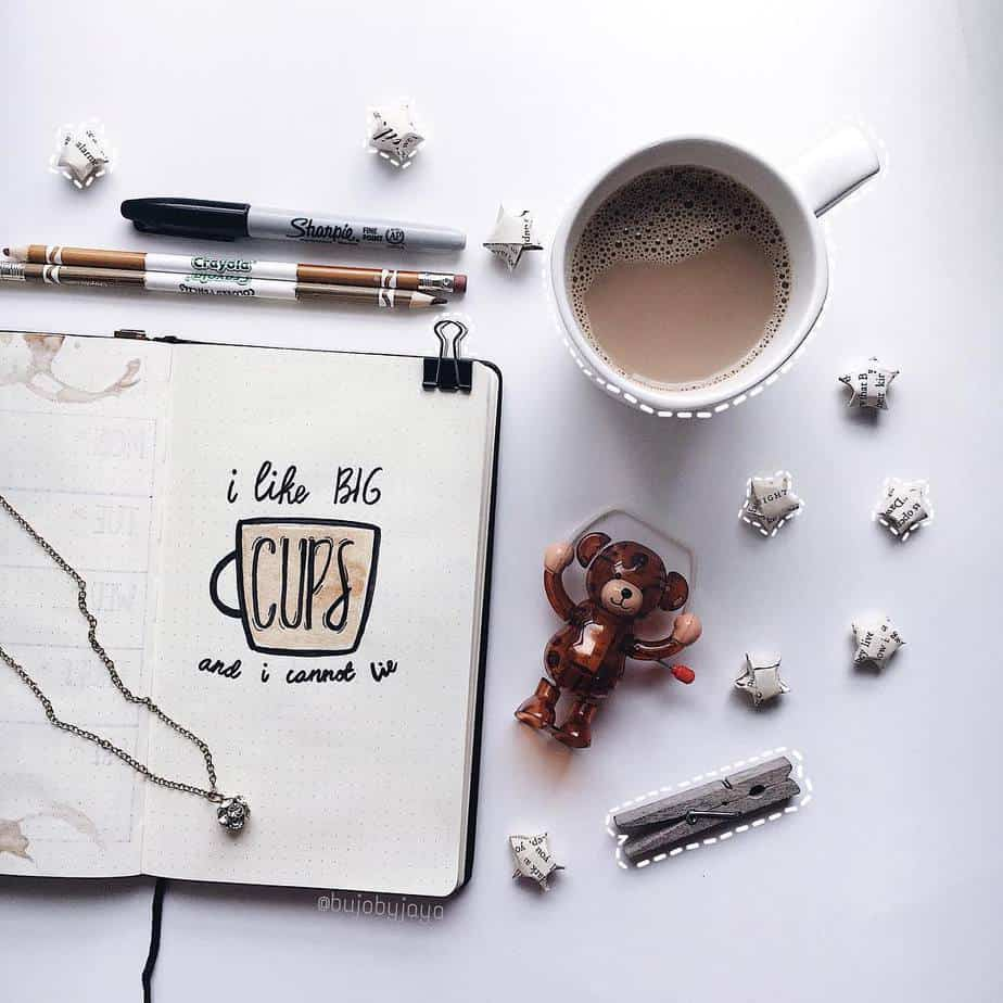 27 Coffee Bullet Journal Theme Inspirations & My November Plan With Me, Spread by @jayajournals | Masha Plans