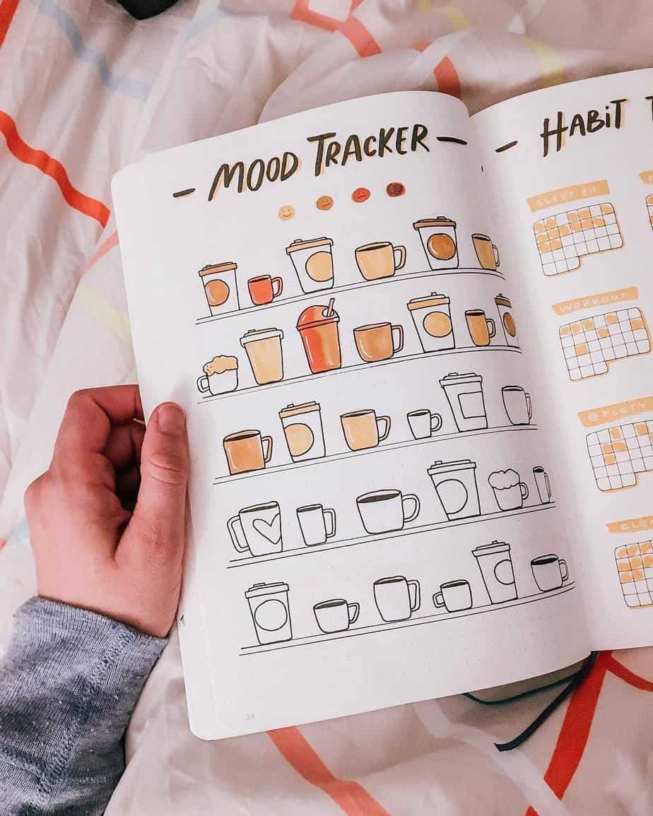 27 Coffee Bullet Journal Theme Inspirations & My November Plan With Me, Spread by @svennimoneypenny | Masha Plans