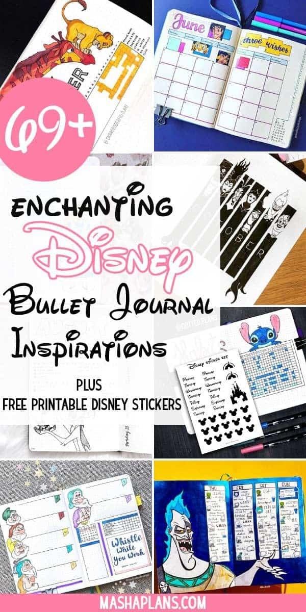 69+ Extraordinary Disney Bullet Journal Inspirations | Masha Plans