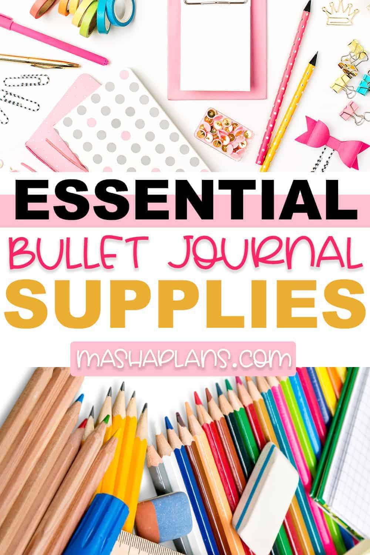 5 Essential Bullet Journal Supplies For Beginners   Masha Plans