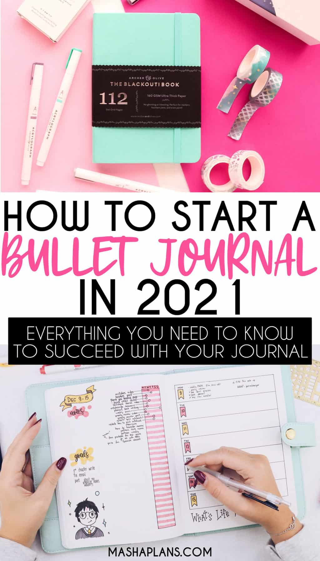 How to start a Bullet Journal in 2021 | Masha Plans