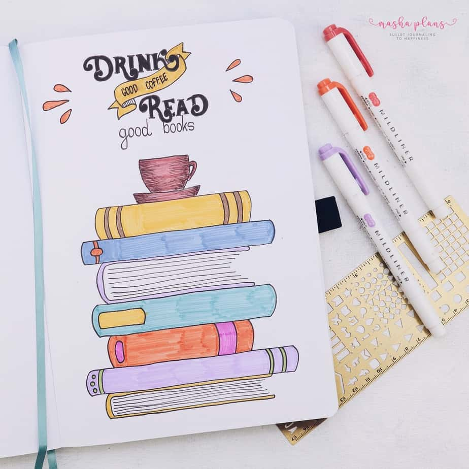 31 Fun and Simple Bullet Journal Page Ideas, Book Tracker | Masha Plans