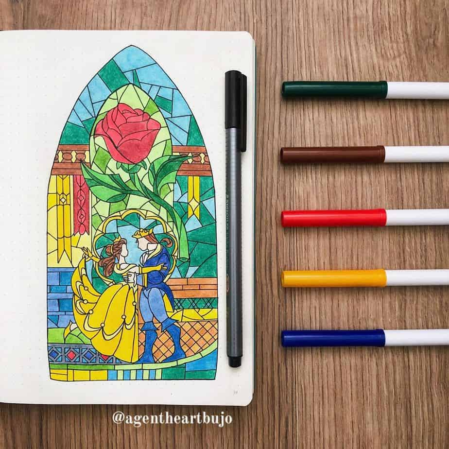 Disney Bullet Journal Inspirations - spread by @agentheartbujo | Masha Plans