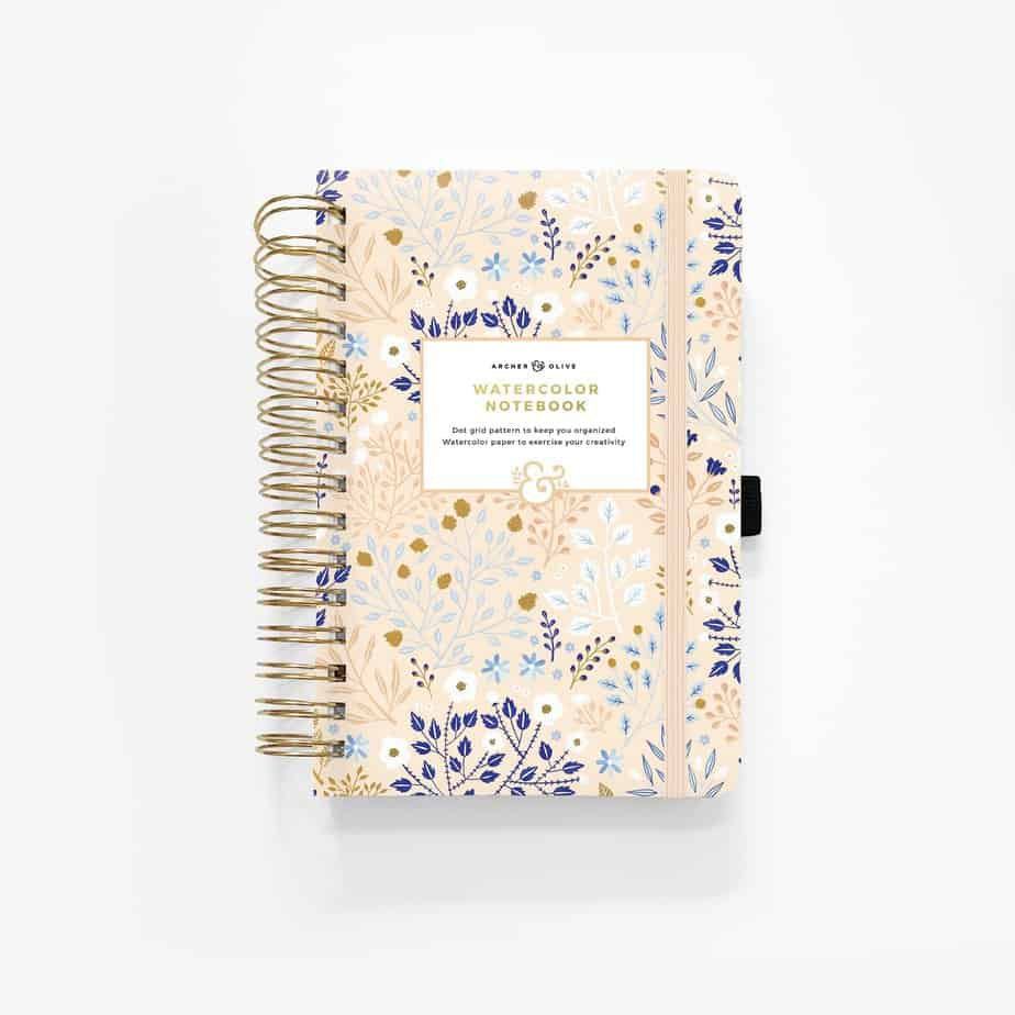 Bullet Journal gift ideas - Archer and Olive Watercolor notebook | Masha Plans