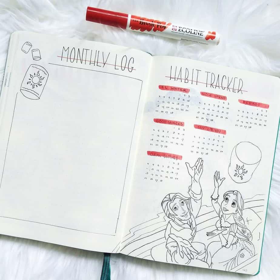 Disney Bullet Journal - tracker by @bujolife.phd | Masha Plans