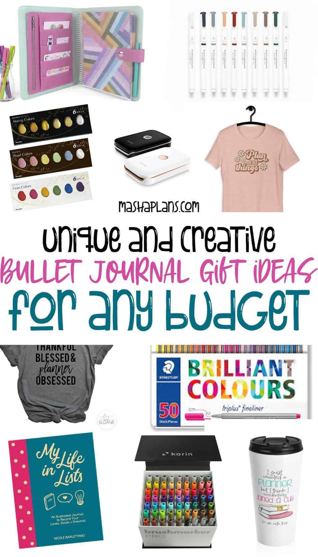 The Ultimate Bullet Journal Gift Guide   Masha Plans