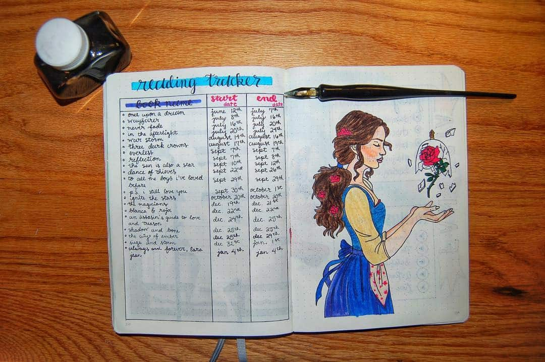 Disney Bullet Journal inspirations - tracker by @emily.journals | Masha Plans