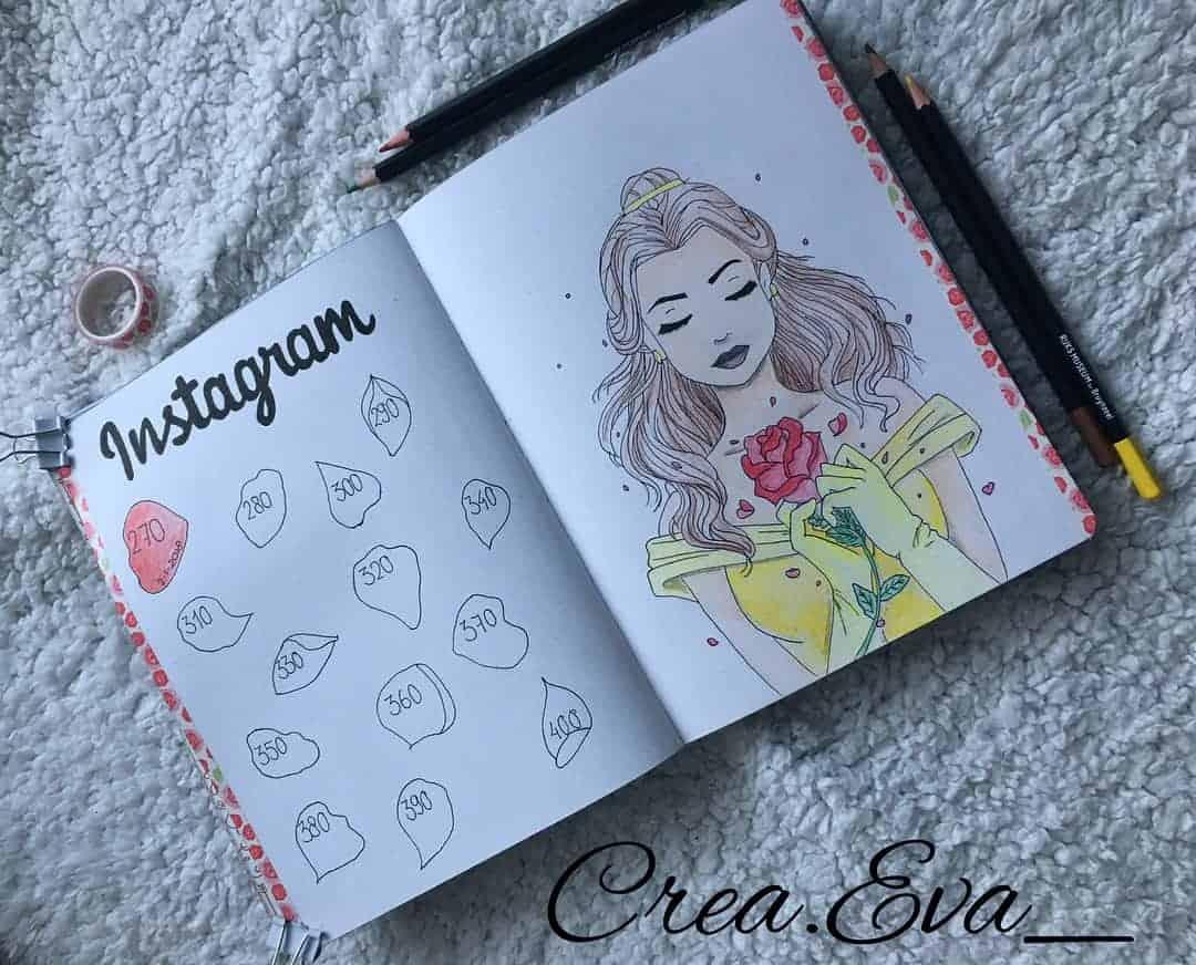 Disney Bullet Journal inspirations - tracker by @evarutgersmaas | Masha Plans