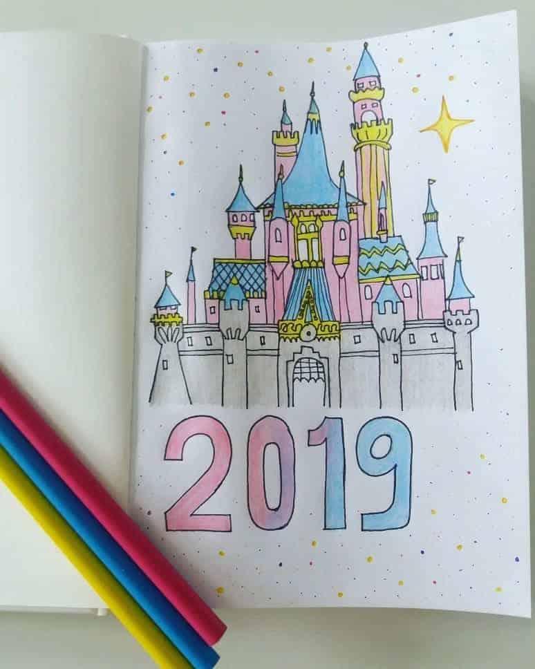 Disney Bullet Journal inspirations - cover page by @helenagrasten | Masha Plans