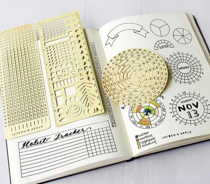 Bullet Journal gift ideas - Bullet Journal stencils   Masha Plans