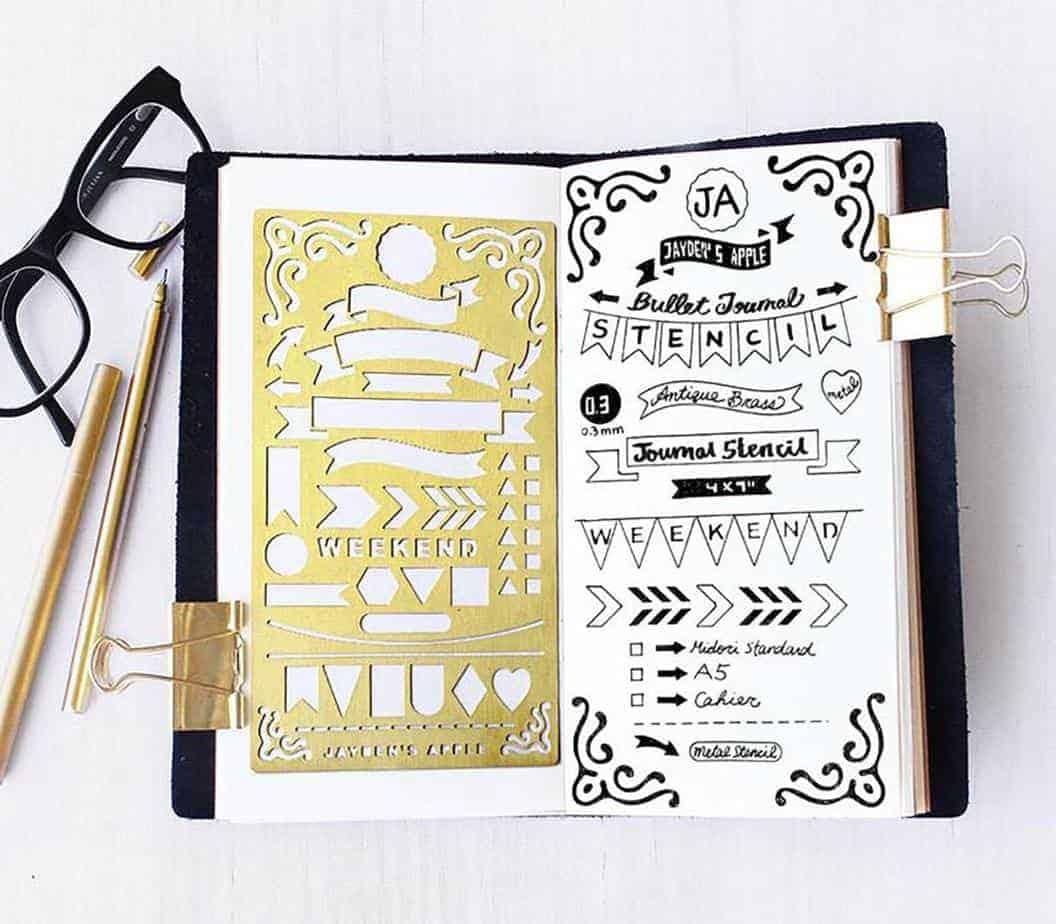 Bullet Journal gift ideas - Jaydens Apple stencils | Masha Plans