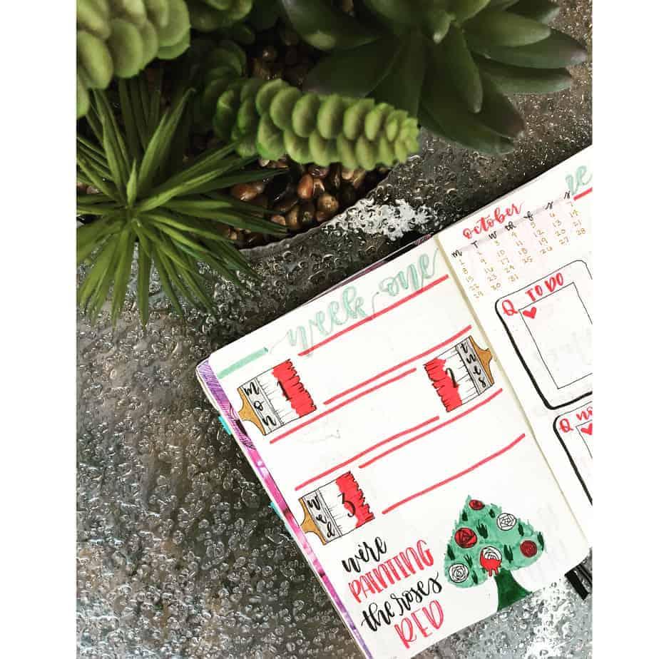 Disney Bullet Journal Inspirations - weekly spread by @itsinkredible | Masha Plans