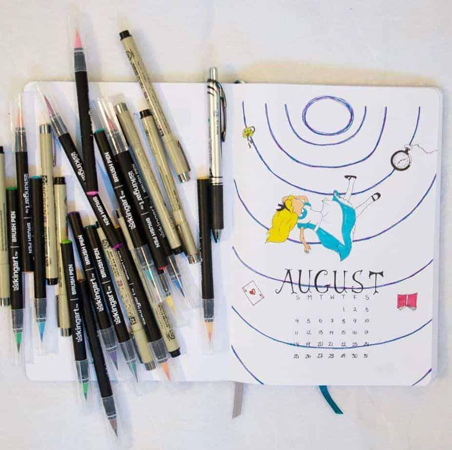 Disney Bullet Journal inspirations - cover page by @jbenderart | Masha Plans