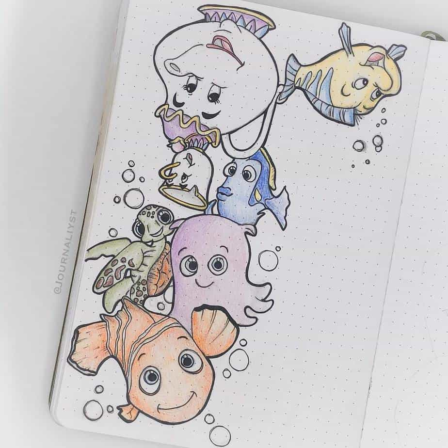 Disney Bullet Journal inspirations - cover page by @journaliyst | Masha Plans