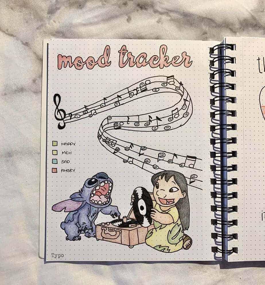 Disney Bullet Journal inspiration - tracker by @_kmlbujo.x | Masha Plans