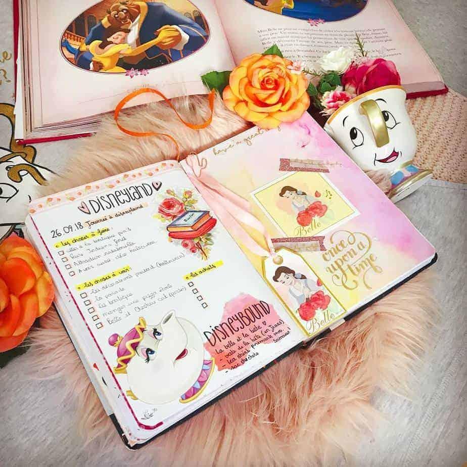 Disney Bullet Journal inspirations - spread by @meduseaplumes | Masha Plans