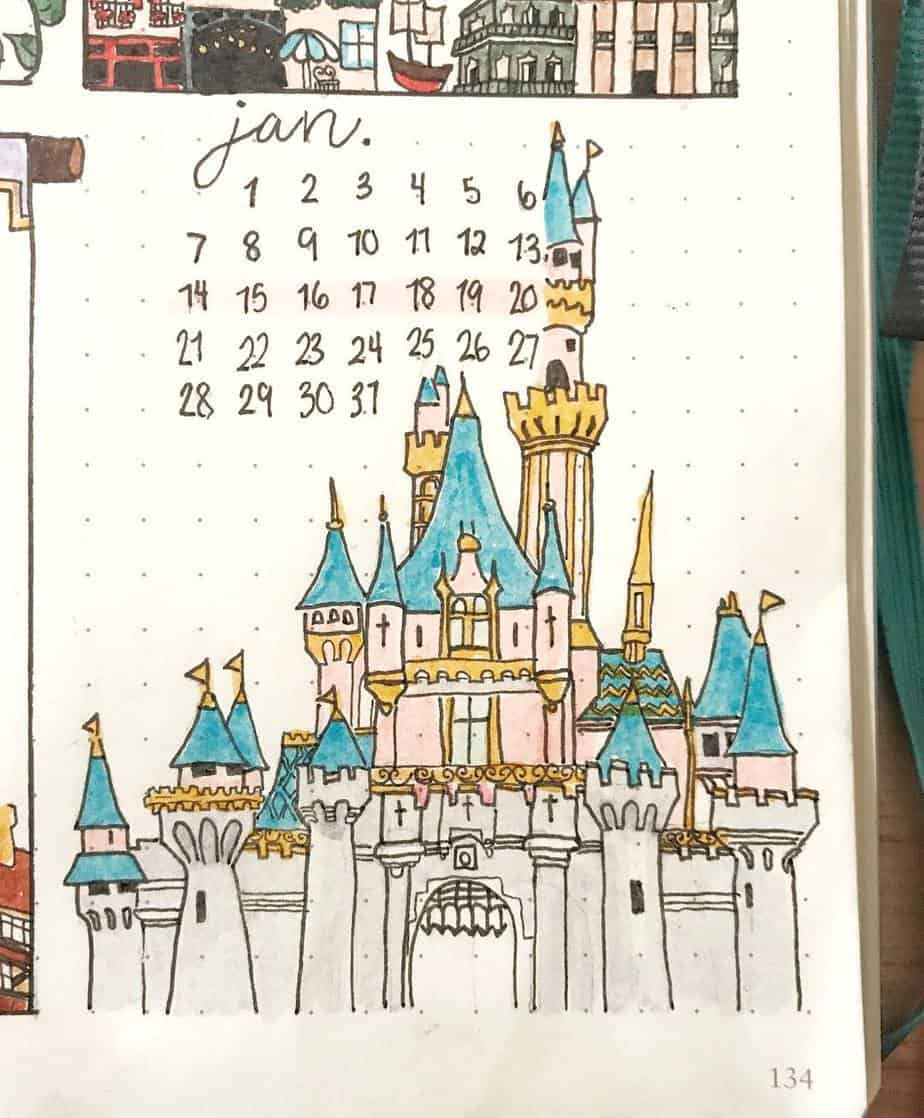 Disney Bullet Journal inspirations - cover page by @mrs_bullets_journal42 | Masha Plans