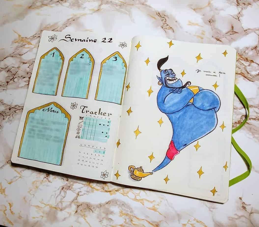 Disney Bullet Journal inspirations - weekly spread by @nauthiz_bujo | Masha Plans