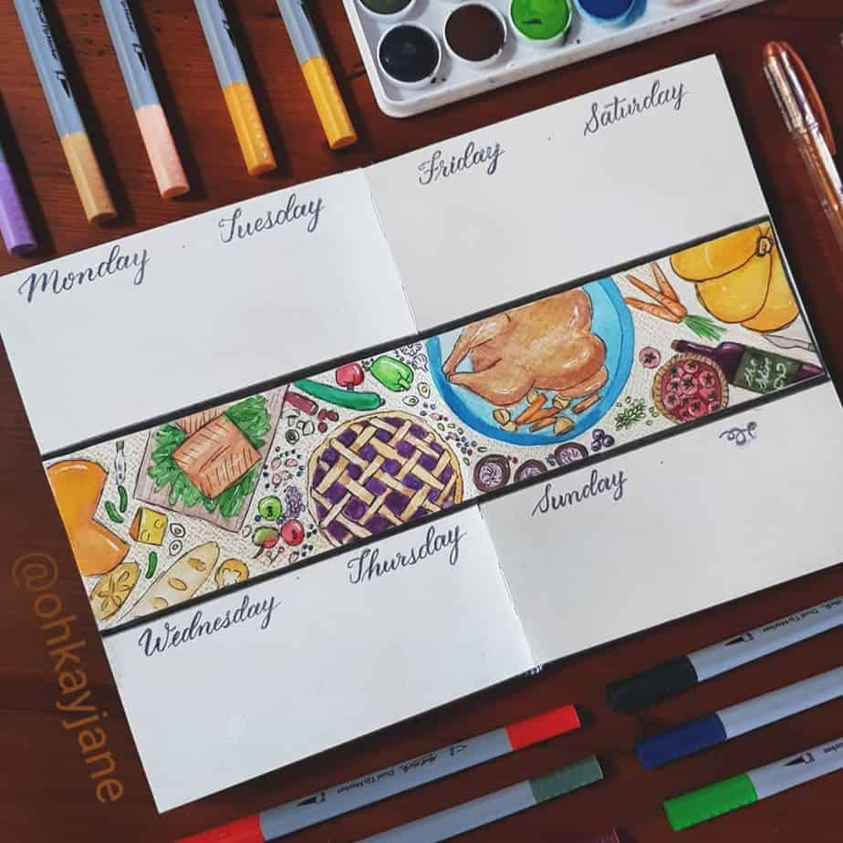 Thanksgiving Bullet Journal Page Ideas   Masha Plans