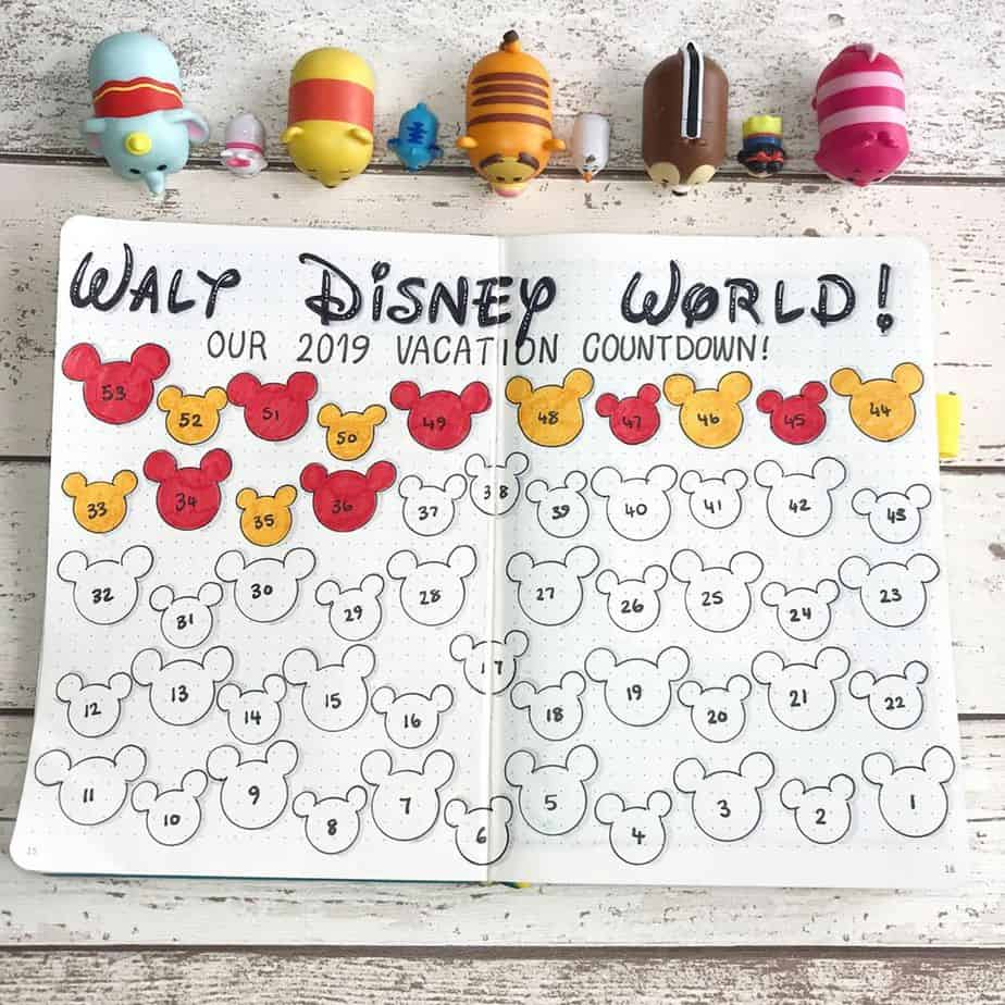 Disney Bullet Journal inspirations - tracker by @shellsbujo | Masha Plans