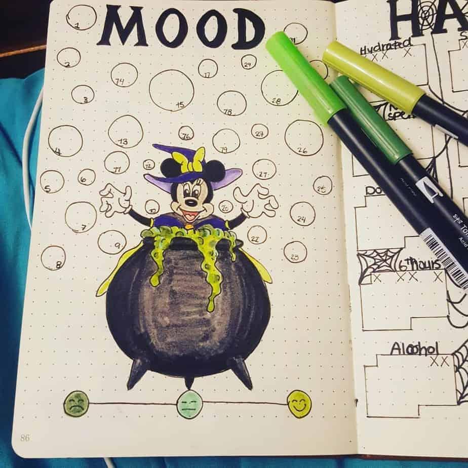 Disney Bullet Journal inspirations - tracker by @the_nerdy_bujo | Masha Plans