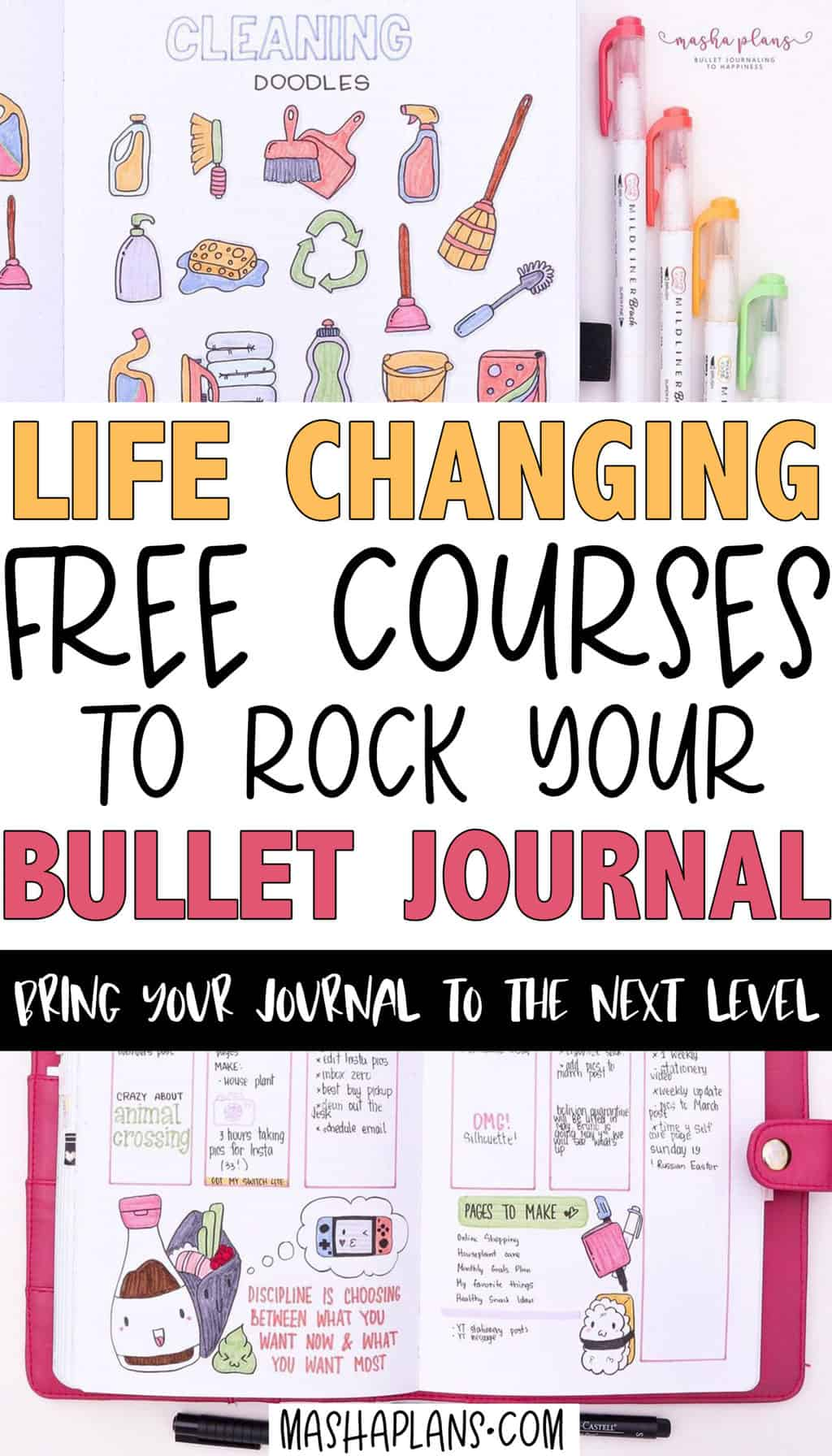 Free Courses To Improve Your Bullet Journal Skills | Masha Plans
