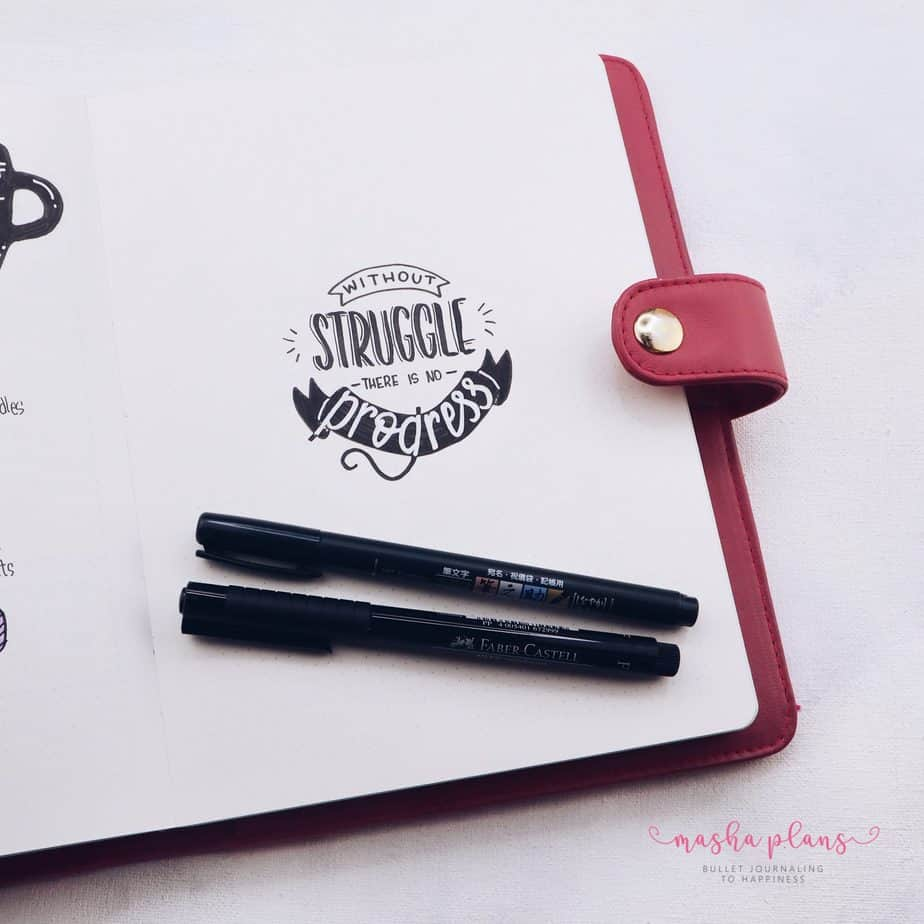 How To Bring Your Bullet Journal To The Next Level - Lettering Skillshare Class | Masha Plans
