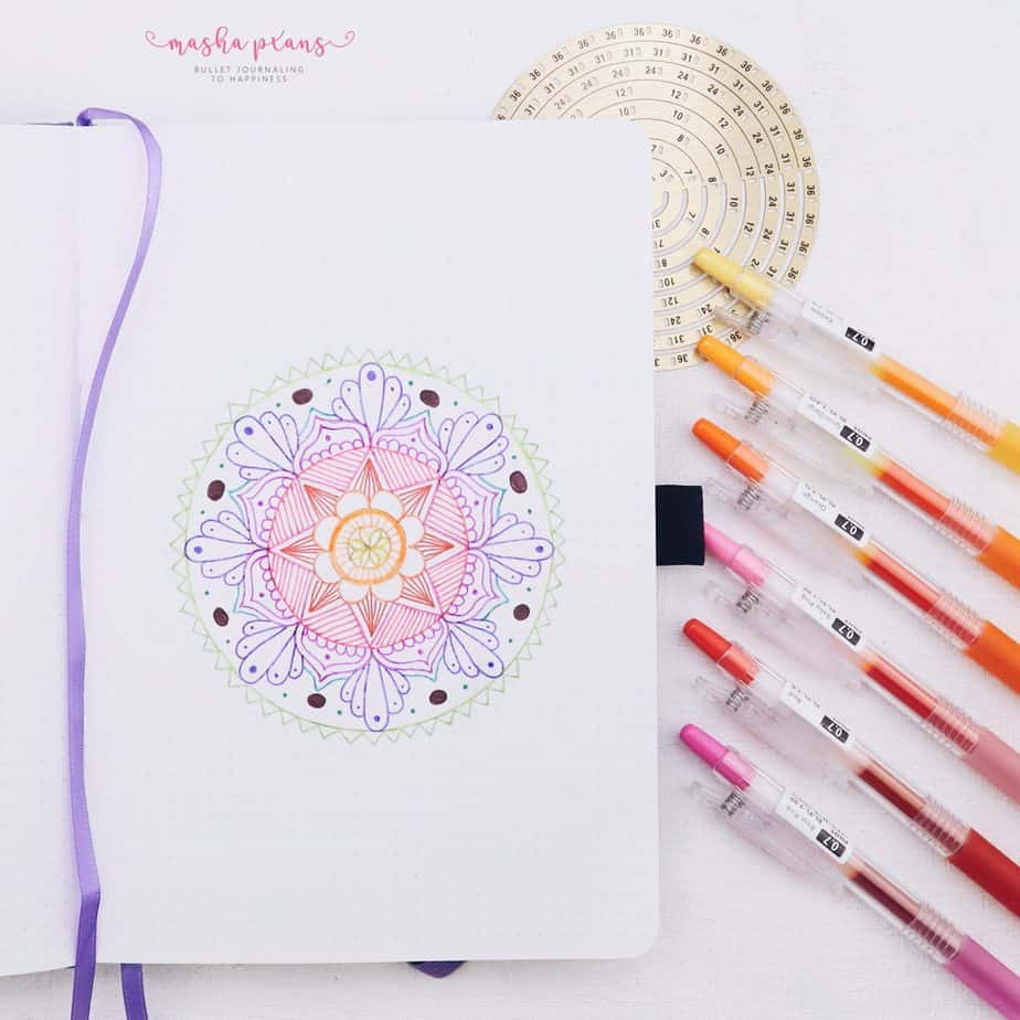 How To Bring Your Bullet Journal To The Next Level - Mandalas Skillshare Class | Masha Plans