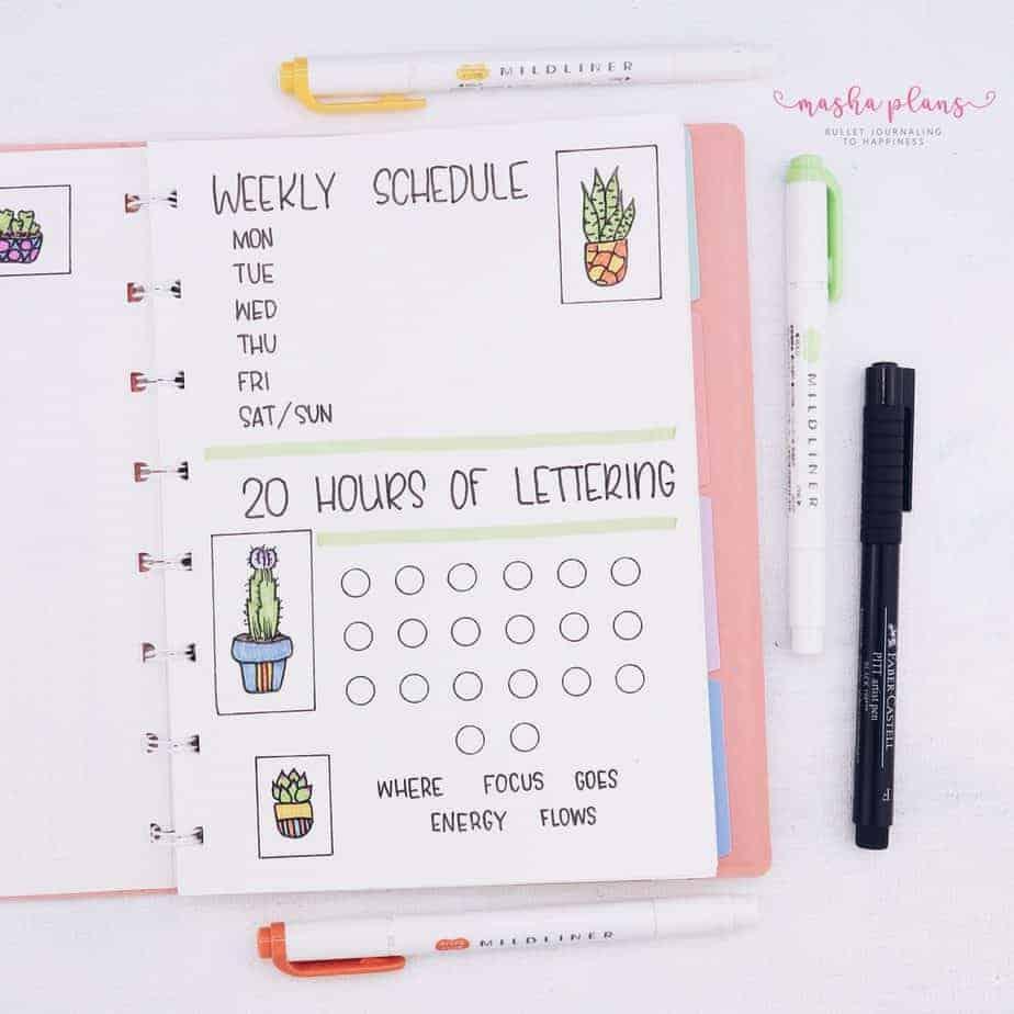 Minimalist Bullet Journal Setup, extra page | Masha Plans