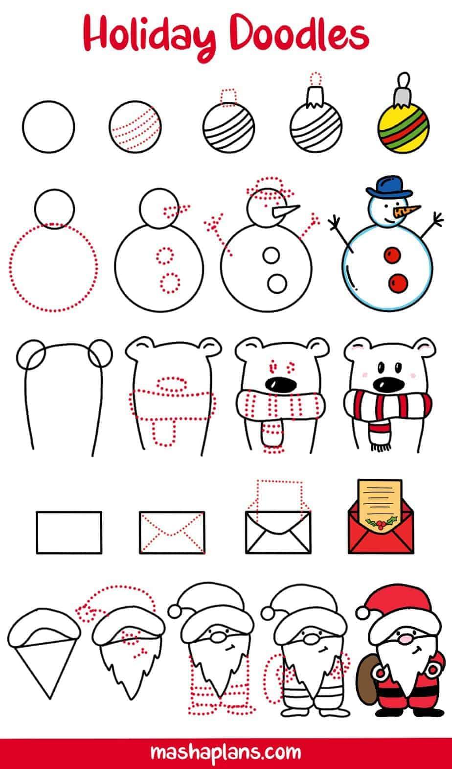 31+ Christmas Doodles For Your Bullet Journal | Masha Plans