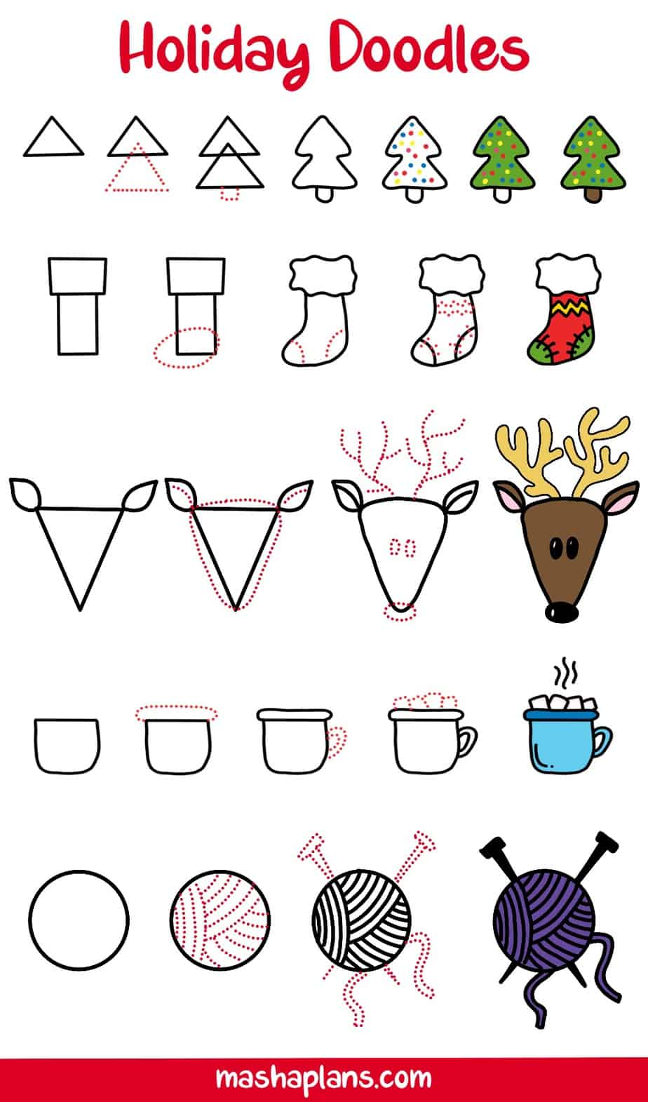 31+ Christmas Doodles For Your Bullet