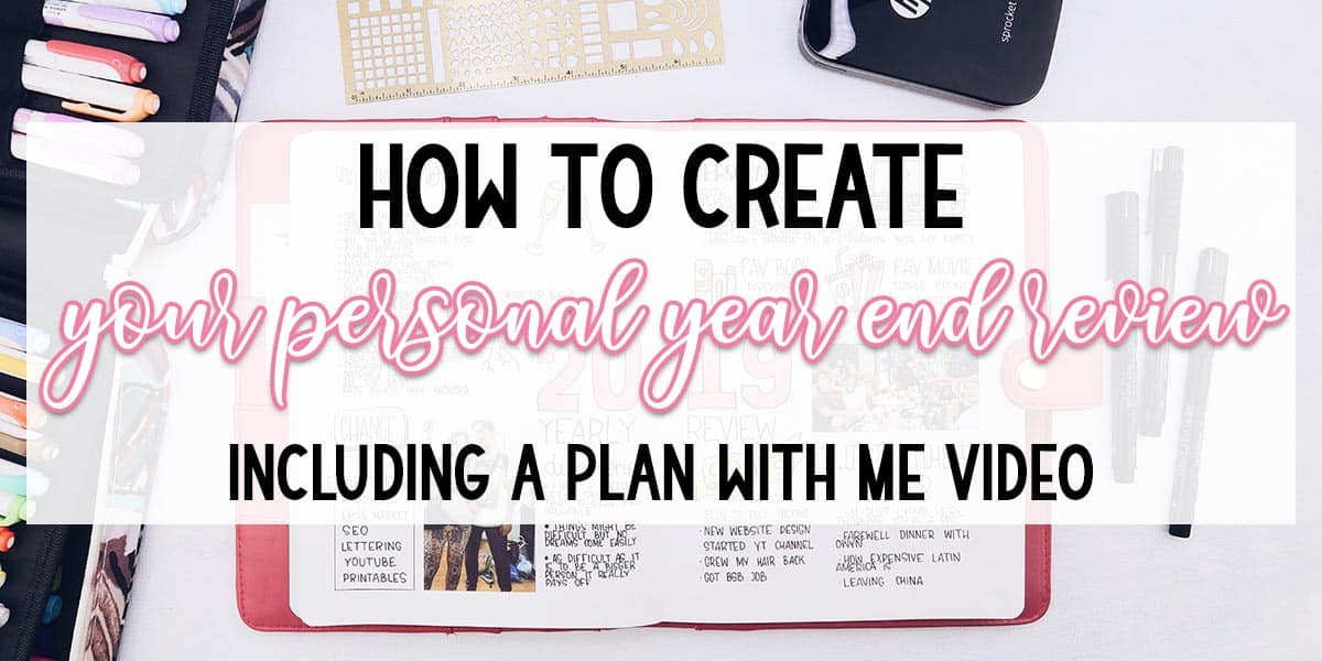 How To Set Up Your Personal Year End Review | Masha Plans