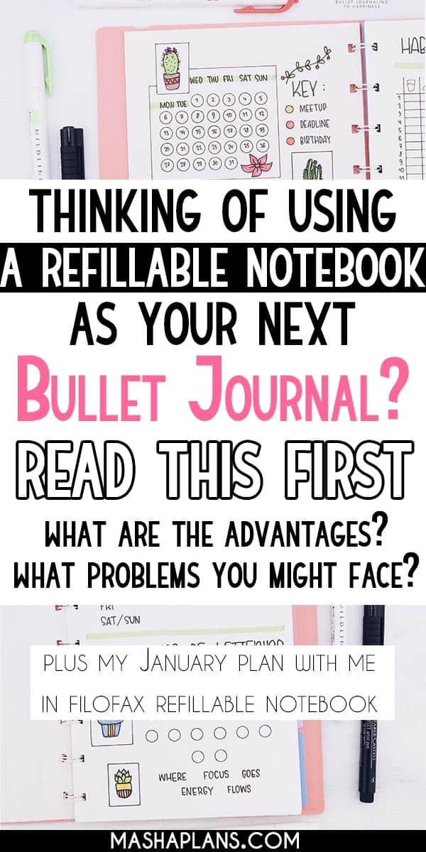 Refillable Bullet Journal Setup: January Plan With Me | Masha Plans