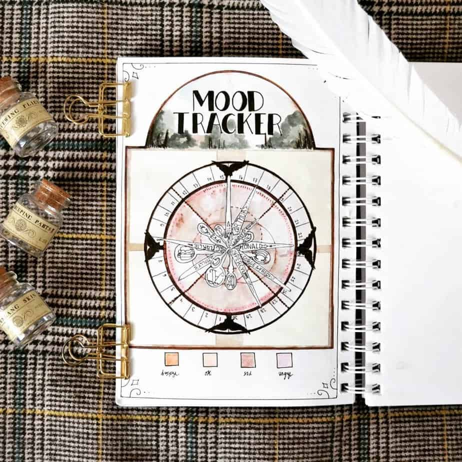 Harry Potter Bullet Journal Theme Inspirations - tracker by @potterbujo | Masha Plans