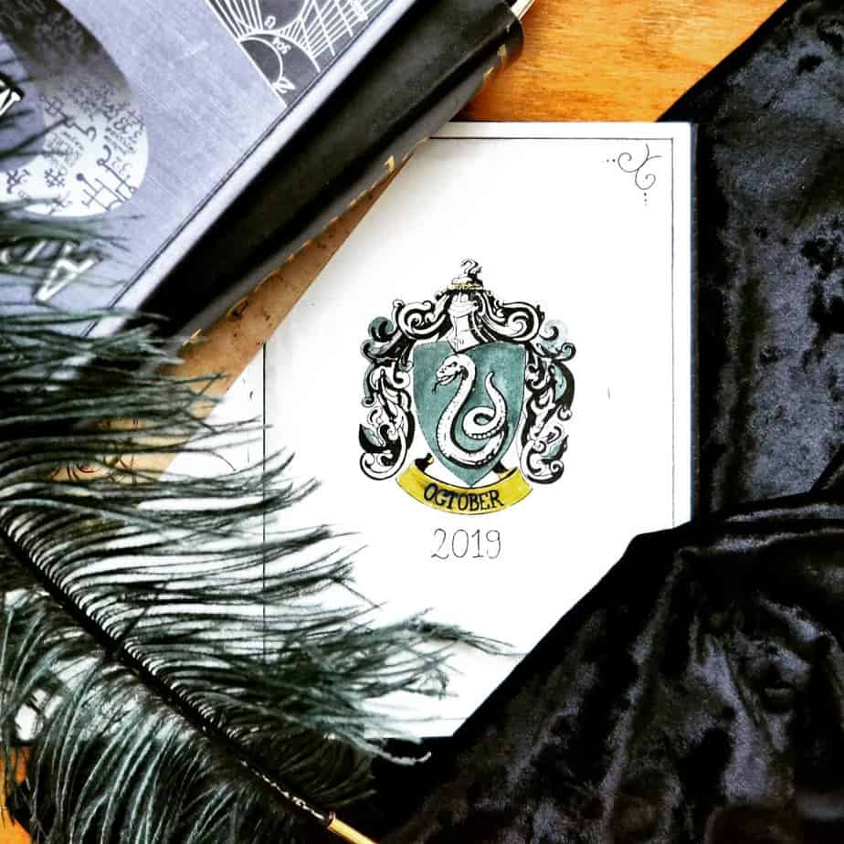 Harry Potter Bullet Journal Theme Inspirations - cover page by @potterbujo | Masha Plans